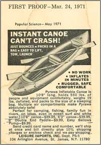 original Pyrawa inflatable kayak