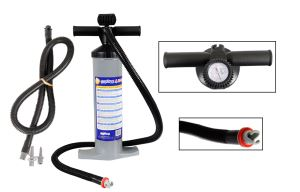 Dual Action Auto Two Stage SUP Pump w/ Pressure Gauge