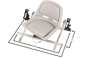Swivel Seat Fishing Rig w/ Scotty® Rod Holders
