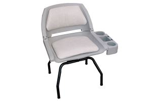 Swivel Seat with Stand and Cup Caddy
