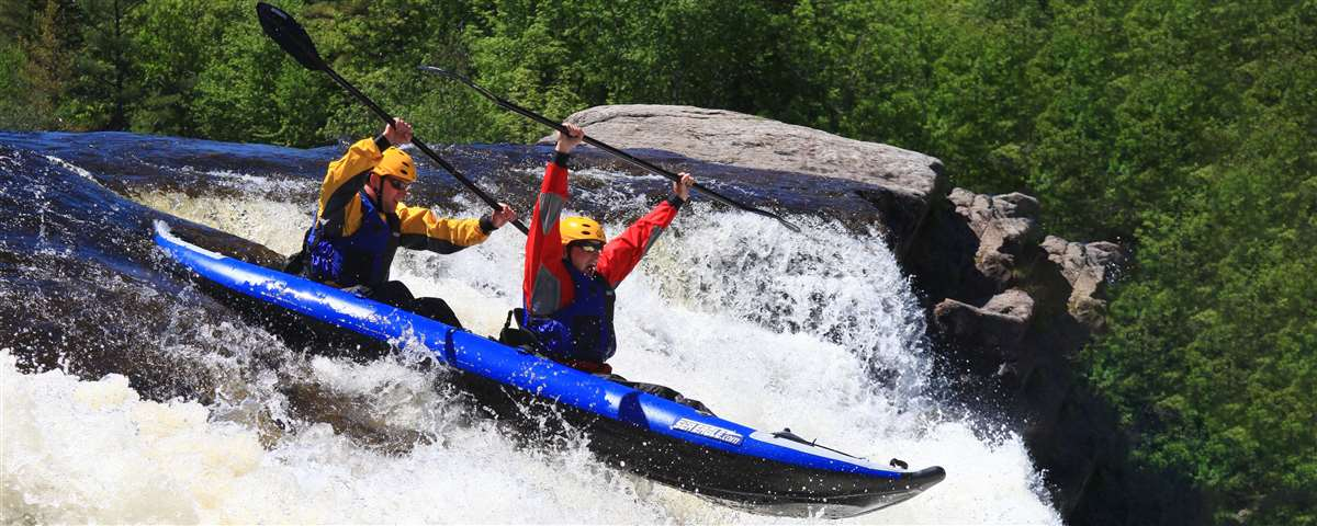 The only thing better than whitewater kayaking is whitewater kayaking for two!