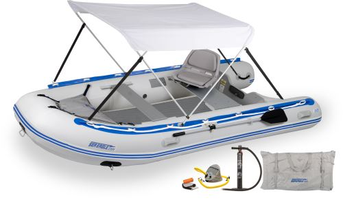 12.6sr Drop Stitch Swivel Seat & Canopy Inflatable Boat Package