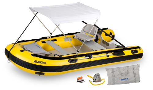 12.6sry Drop Stitch Swivel Seat & Canopy Inflatable Boat Package