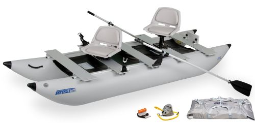 Classic 375fc Deluxe Inflatable Pontoon Fishing Boat Package