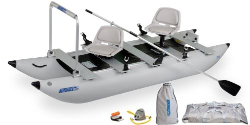 Classic 375fc Pro Angler Guide Inflatable Pontoon Fishing Boat Package