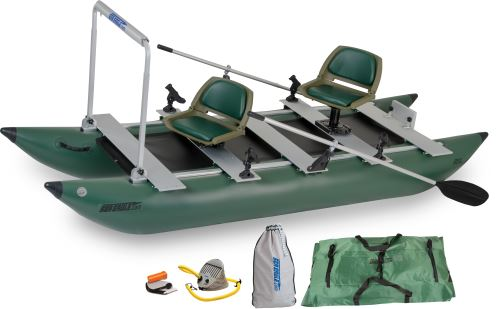 375fc Pro Angler Guide Inflatable Pontoon Fishing Boat Package
