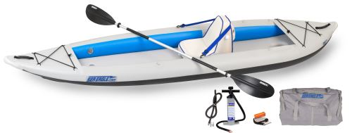 385ft Deluxe Solo Inflatable Kayak Package