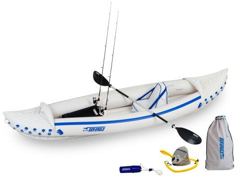 SE 370 Sport Fishing Inflatable Kayak Package