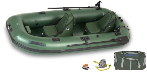 Stealth Stalker 10 Deluxe Inflatable Pontoon Fishing Boat Package