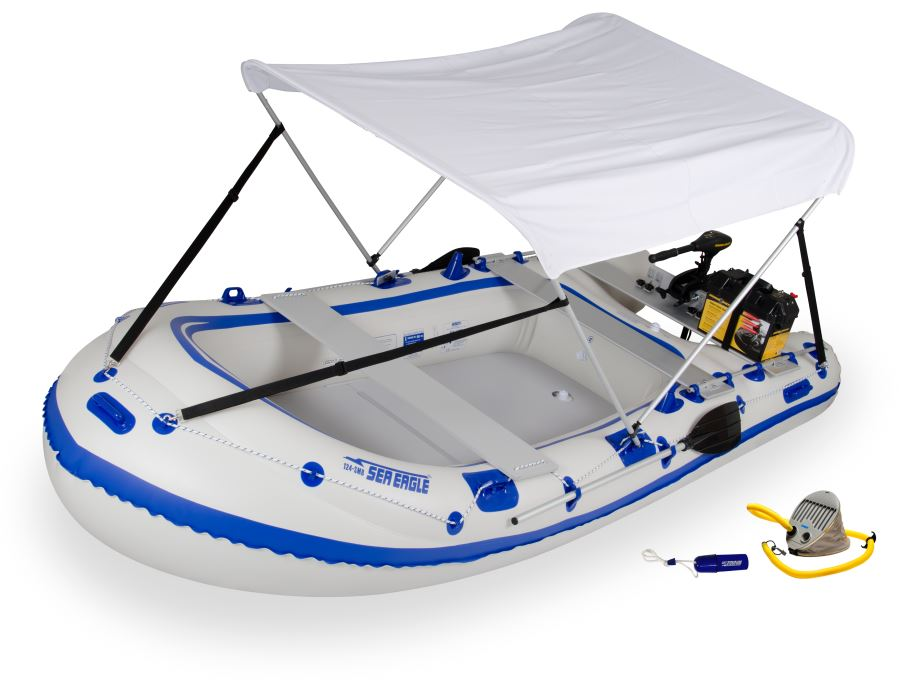 Sea eagle 124smb 4 person inflatable boat package prices for 4 person fishing boat