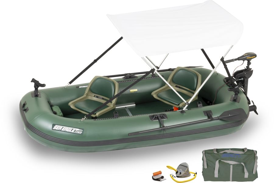 Sea Eagle Sts10 2 Person Inflatable Fishing Boats Package