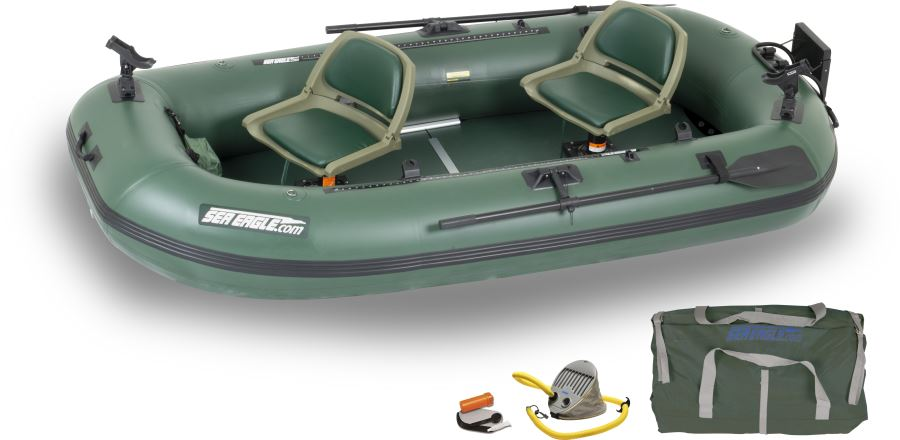 Sea eagle sts10 2 person inflatable fishing boats package for Inflatable fishing boats