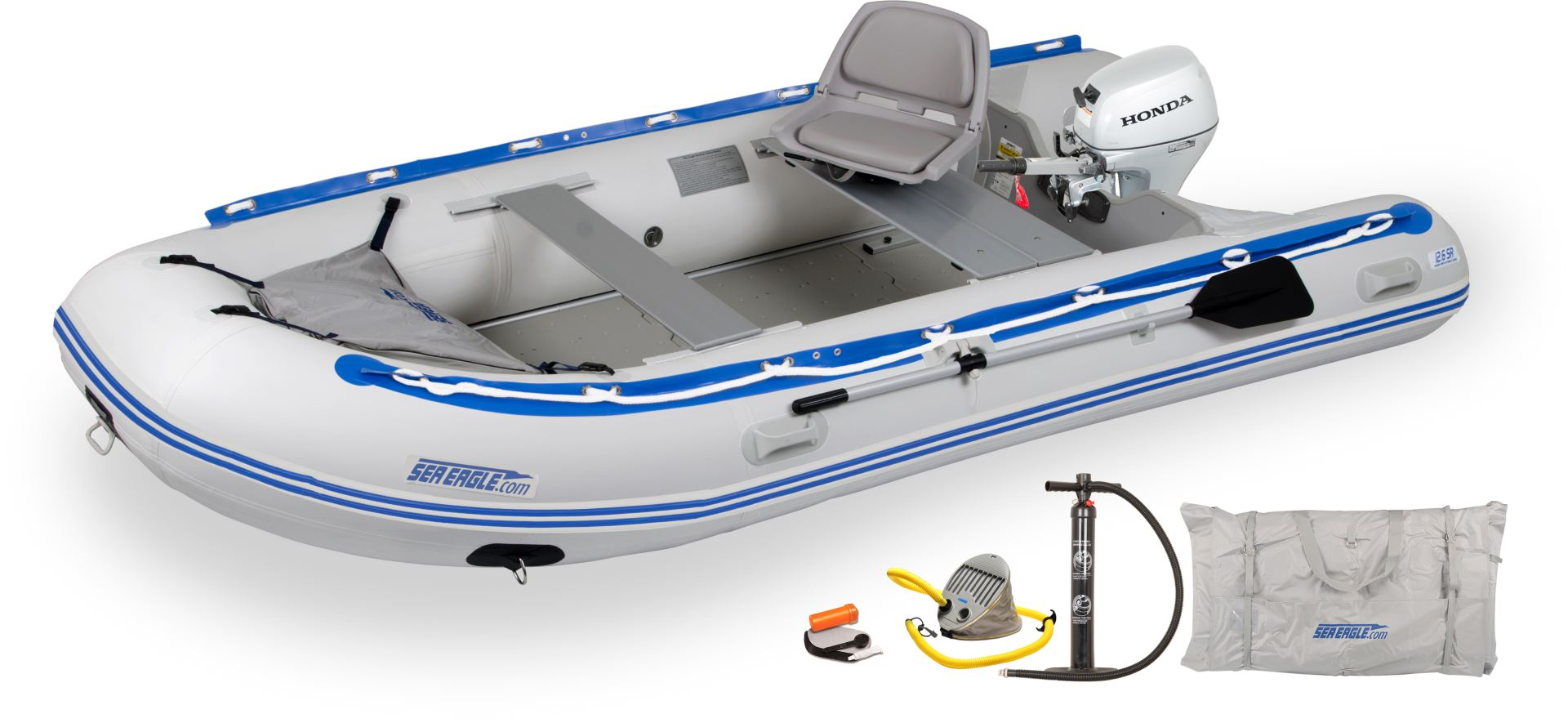 Sea eagle 6 person inflatable boats package prices Aluminum boat and motor packages
