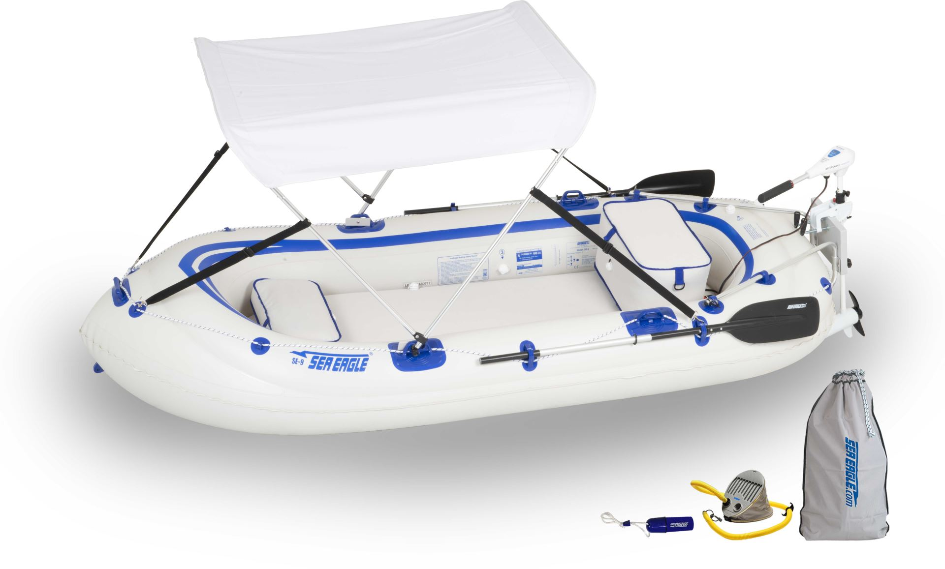 SE9 Watersnake Motor Canopy  sc 1 st  Sea Eagle & Sea Eagle SE9 4 person Inflatable Boats. Package Prices starting ...