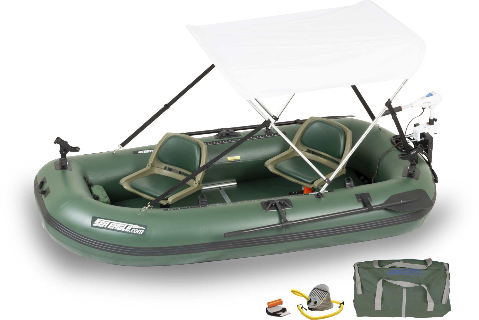 Sea eagle sts10 2 person inflatable fishing boats package for Blow up boat for fishing