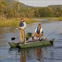FoldCat™ Inflatable Pontoon Boat Fishing