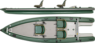 Scaled Inflatable Fishing Skiff FSK16
