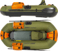 Scaled Frameless Inflatable Fishing Boats PackFish7™