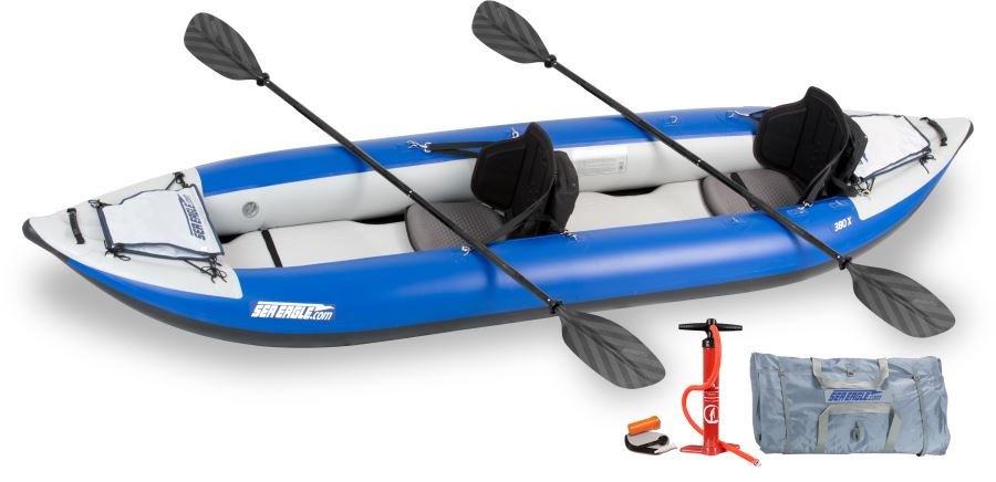 Sea eagle 380x 2 person inflatable kayaks package prices for Best fishing kayak under 800